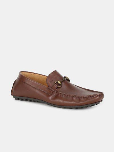 Arrow Men Brown Solid Leather Horsebit Loafers