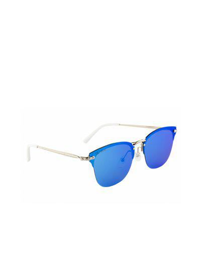 Ted Smith Unisex Blue Wayfarer Sunglasses TS-1245S