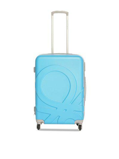 United Colors of Benetton Unisex Blue & Yellow Colourblocked Trolley Suitcase