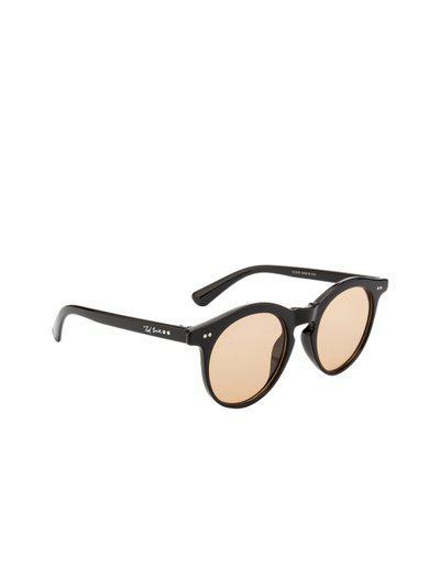 Ted Smith Unisex Round Sunglasses TS-Z3229_BRN