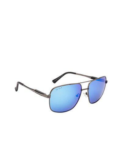 Ted Smith Unisex Aviator Sunglasses TS-P201937_BLU