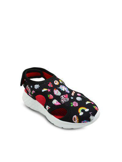 KazarMax Kids Black & White Printed Comfort Sandals