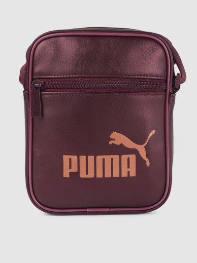 Puma Women Burgundy Printed Core Up Portable Messenger Bag