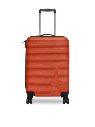 United Colors of Benetton Unisex Orange Textured Trolley Bag