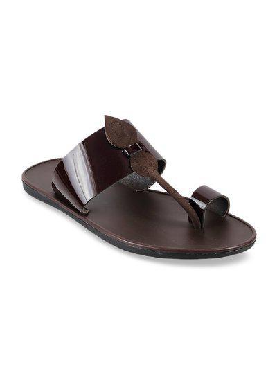 Mochi Men Maroon Slippers & Flip-Flops