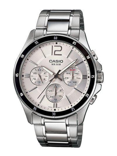 CASIO Men Silver-Toned Analogue Watch A1648