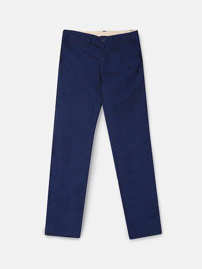 GAP Boys Blue Solid Straight Fit Regular Trousers