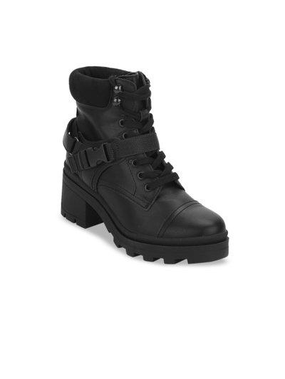TRUFFLE COLLECTION Women's PERRY3 Black PU Boots - 3