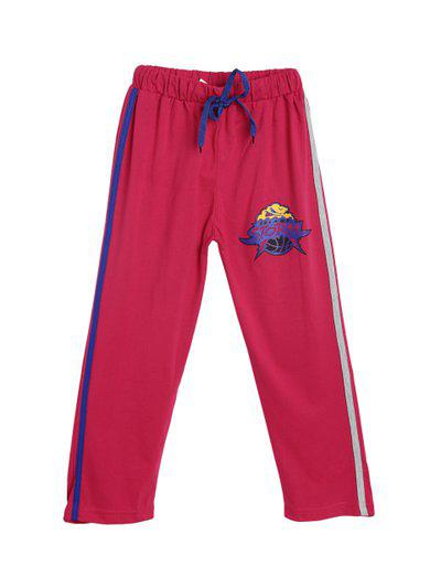 SWEET ANGEL Kids Pink Solid Straight-Fit Track Pants
