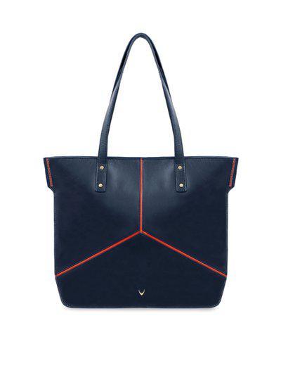 Hidesign Blue Solid Leather Shoulder Bag