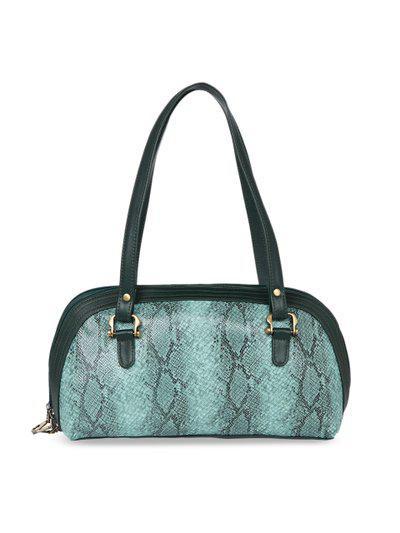 Tarusa Blue Color Faux Leather Handbag For Women
