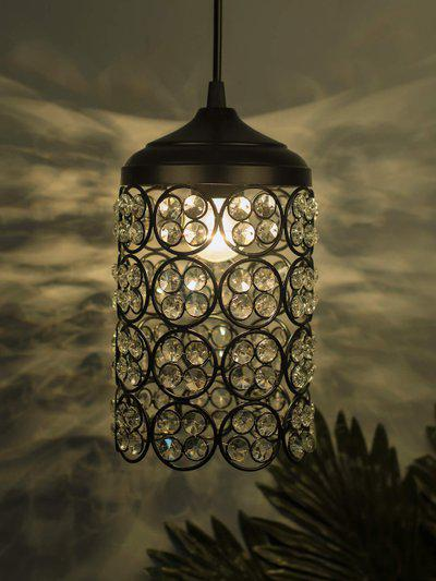 Homesake Black and White Textured Handcrafted Wall or Ceiling Lamp