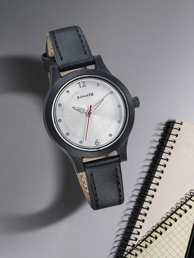 Sonata Ladies Essentials Women Silver Analogue watch 87030PL03