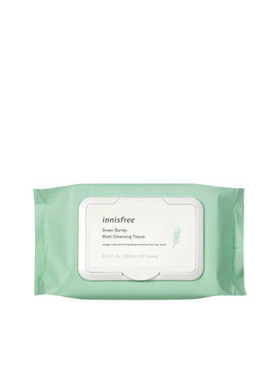 Innisfree Unisex Green Barley Multi Cleansing Tissues - 50 Sheets