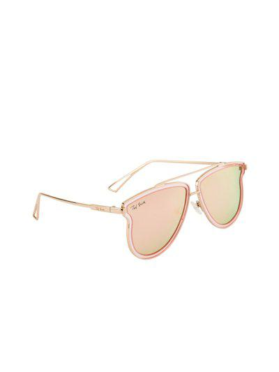 Ted Smith Unisex Polarised Mirrored Oval Sunglasses TS-1311S_C1