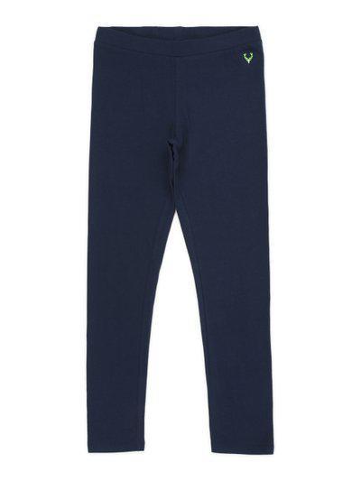 Allen Solly Junior Girls Navy Blue Regular Fit Solid Regular Trousers