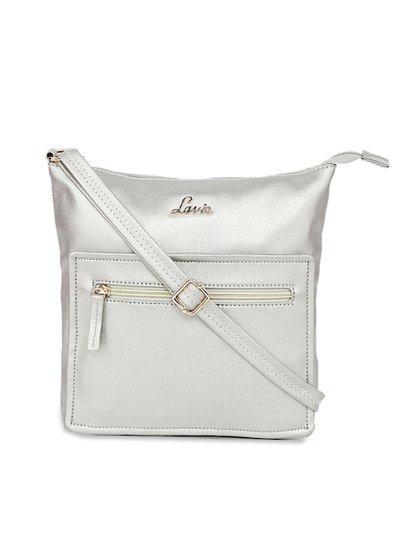 Lavie Gunmetal-Toned Solid Sling Bag