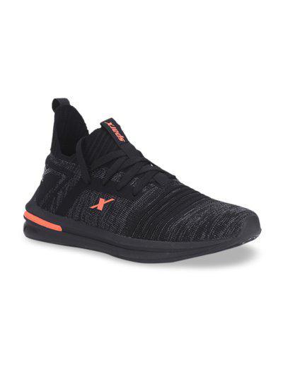 Sparx Men Black Mesh Running Shoes