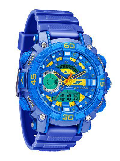 Sonata Men Blue Analogue and Digital Watch 77070PP10