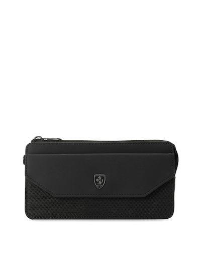 Puma Women Black Solid Ferrari LS Zip Around Wallet