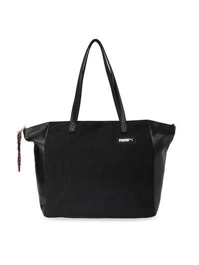 Puma Black Solid Shoulder Prime Premium Large Shopper Bag