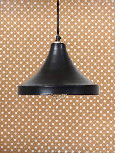 eCraftIndia Black Solid Glossy Finish Ceiling Lamp