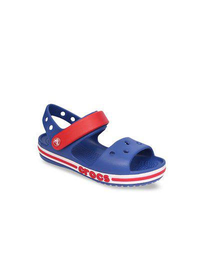 Crocs Kids Blue & Red Colourblocked Comfort Sandals