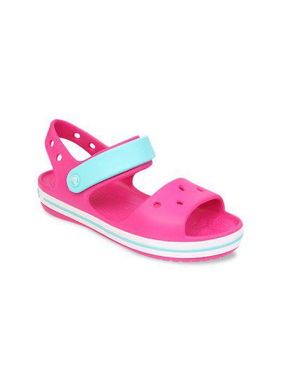 Crocs Unisex Kids Pink & Blue Comfort Sandals