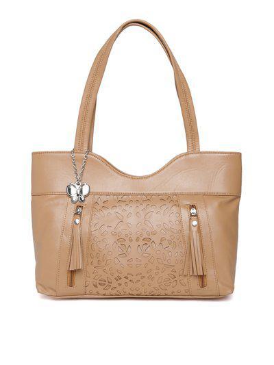 Butterflies Brown Cut-Out Detail Shoulder Bag