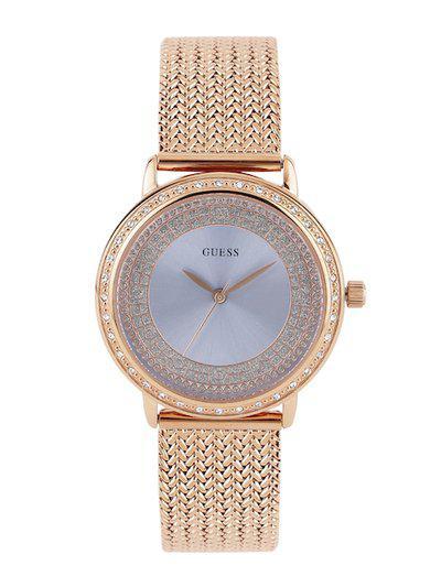 GUESS Women Grey Dual-Toned Dial Watch W0836L1
