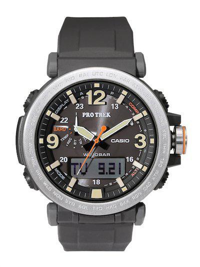 CASIO Outdoor Men Grey Dial Protrek Watch PRG-600-1DR - SL92