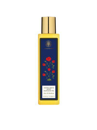 Forest Essentials Handmade Rose & Mandarin Extra Rich Almond Body Massage Oil 200 ml