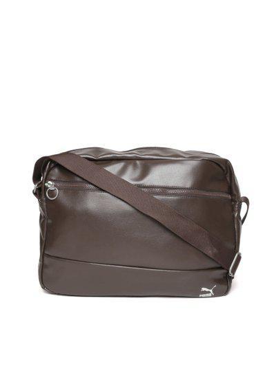 Puma Unisex Coffee Brown Originals Reporter Messenger Bag