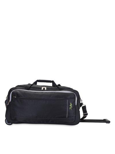 Skybags Unisex Black Medium Trolley Duffel Bag