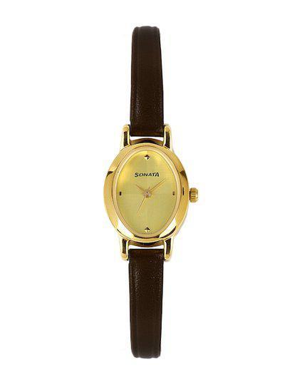 Sonata Women Gold-Toned Dial Watch 8100YL02