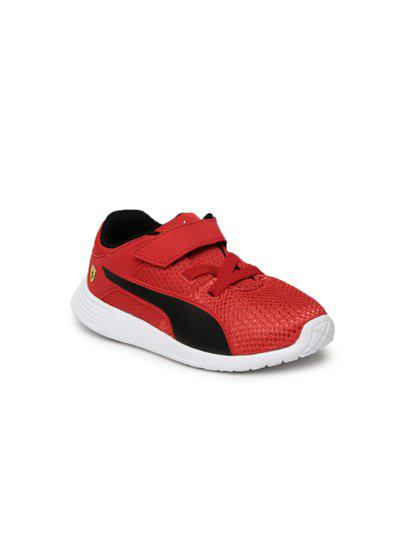 Puma Kids Red SF F117 V PS Sneakers Upto 50% Off 69ae2701e837c