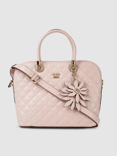 GUESS Pink Textured Handheld Bag