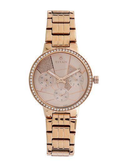Titan Analog Pink Dial Women s Watch NL95058WM02 NN95058WM02