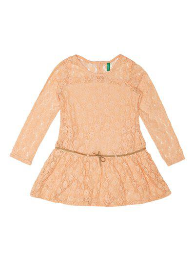 United Colors of Benetton Kids Peach Fit & Flare Dress
