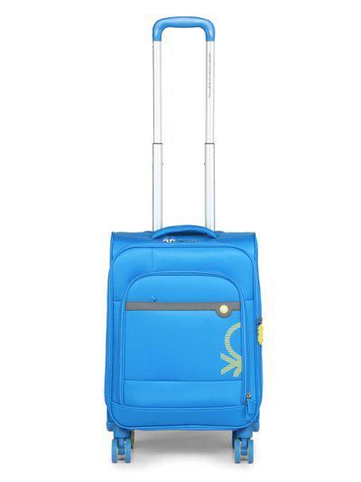 United Colors of Benetton Unisex Blue Cabin Trolley Suitcase