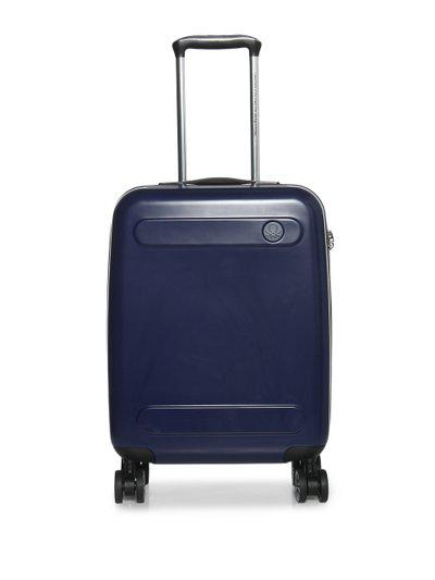 United Colors Of Benetton Unisex Navy Blue Trolley Suitcase