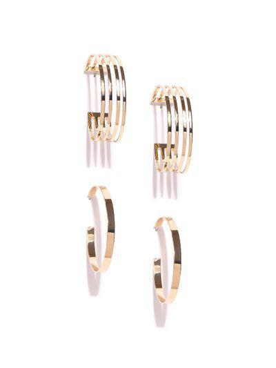 FOREVER 21 Set of 2 Circular Half Hoop Earrings
