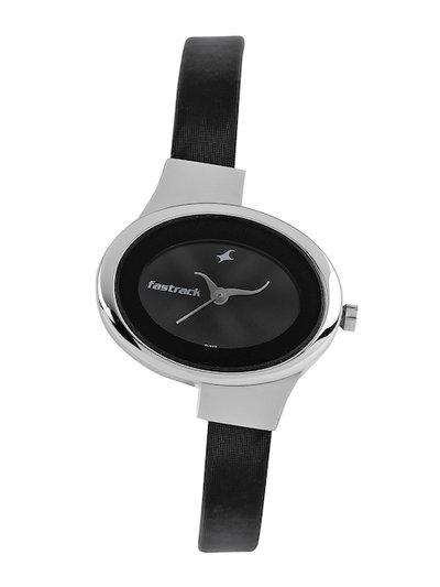 Fastrack Women Charcoal Grey Dial Watch N6015SL02