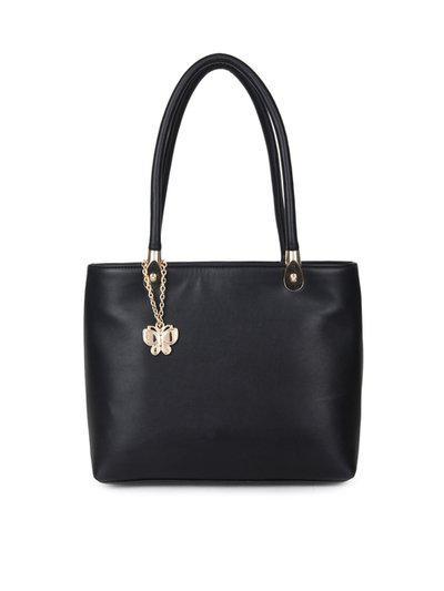 Butterflies Black Solid Shoulder Bag