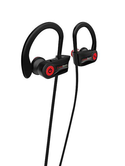 CrossBeats Unisex Black Raga Wireless Bluetooth Earphones with Mic RU8