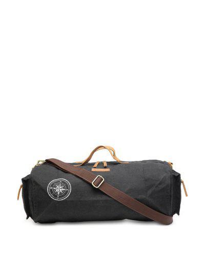 The House Of Tara Black Solid Duffle Bag
