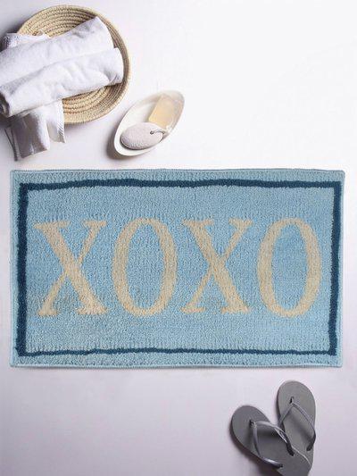 ROMEE Blue Printed Rectangular Bath Rug