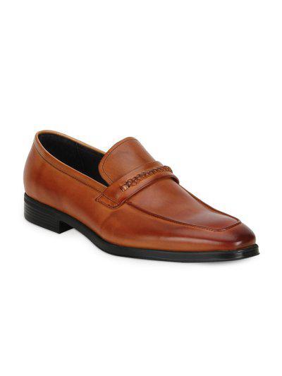 Park Avenue Men Brown Semi-Formal Leather Slip-on Shoes