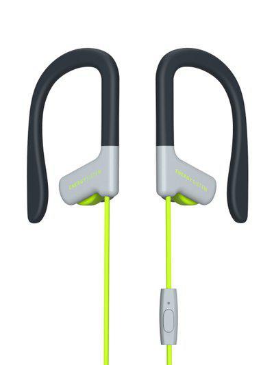 Energy Sistem Unisex Black & Lime Green Sport 1 Earphones