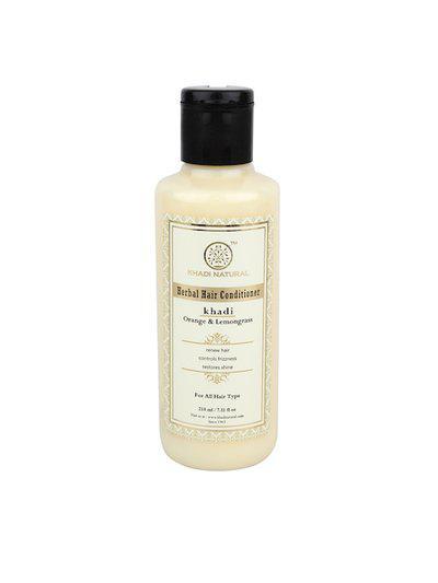 Khadi Natural Unisex Orange & Lemongrass Herbal Hair Conditioner 210 ml